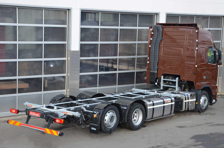 Bild eines Volvo mit Volumenlifter-Wechselsystem